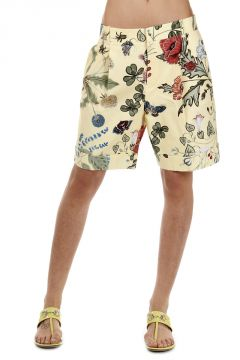 Shorts con Stampa Flora by Kris Knight