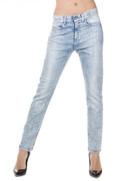 Jeans NEW BOYFRIEND Bleach Wash in Denim Stretch 15 cm
