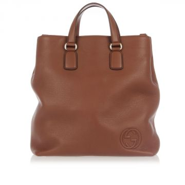 CELLARIUS Grained Leather Tote Bag