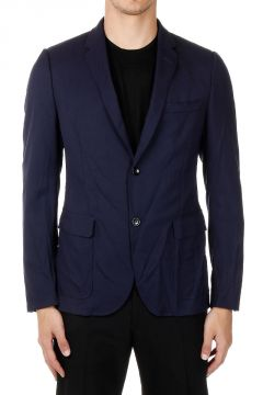 Creased Single-Breasted Jacket