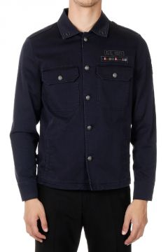 Stretch Cotton Military Jacket