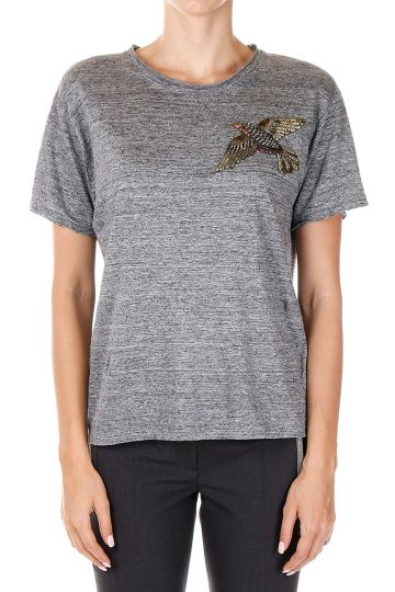 Embroidered Linen T-Shirt
