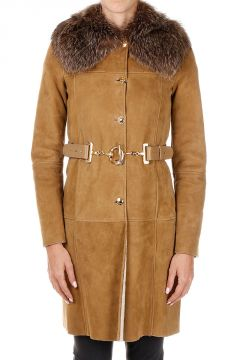 Shearling And Real Fur Coat