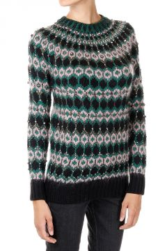 Wool Printed Sweater