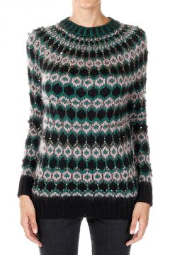 Wool Printed Sweater