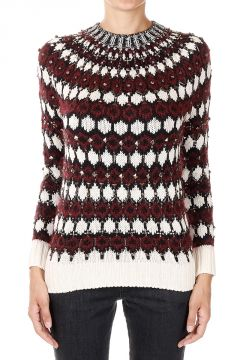 Round Neck Sweater with Application