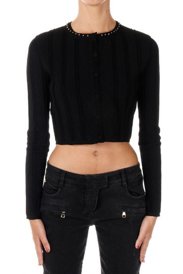 Short Cardigan With Studs