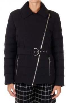 Nylon Down Padded Jacket with belt