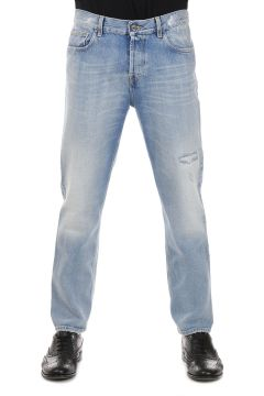 Jeans classico con Strappi 18 cm