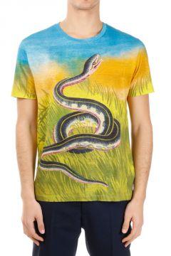 Linen Printed Snake T-shirt