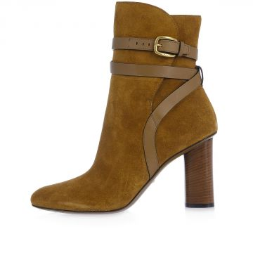 Heel 9 cm Leather MAORI Ankle Boots