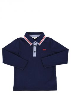 Pique Cotton Long Sleeve Polo