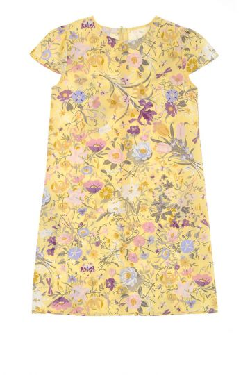 Cotton and silk Dress Flower Printed