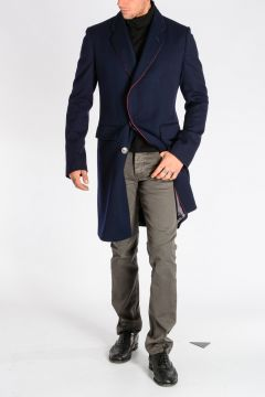 Single Breasted Wool Blend Coat