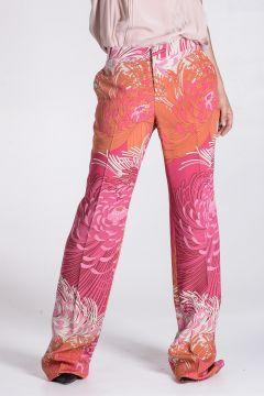 Pantalone in Seta a Fantasia