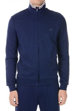Cotton Blend Full Zip Sweatshirt