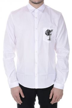 DUKE Cotton Shirt with Printed Pocket