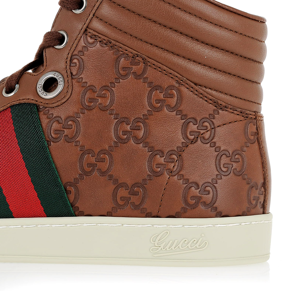 gucci men leather high top sneakers spence outlet. Black Bedroom Furniture Sets. Home Design Ideas