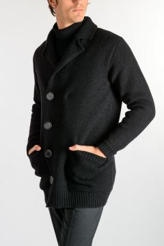 Wool blend Knit Jacket