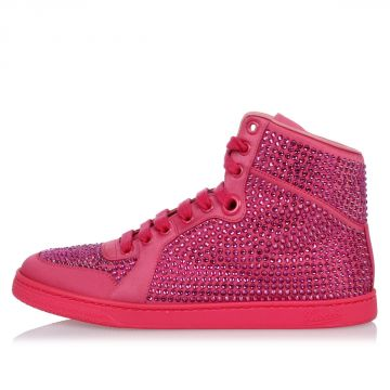 Leather Jewel High top Sneakers