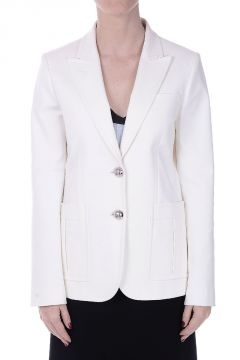 Single-Breasted Stretch Cotton Blazer