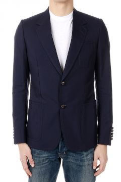 Cotton and Silk Single Breasted Blazer