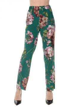 Pantaloni Stampati in Seta