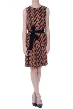 Silk Wool Printed Dress