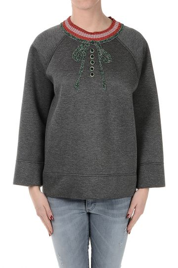 Embroidered Jewel Sweatshirt