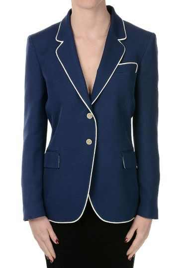 Wool and Silk Single Breasted Blazer
