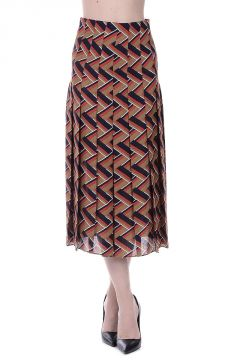 Silk and Wool Long Skirt