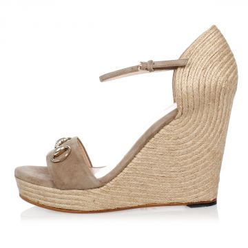 Leather Cord Fabric Wedge