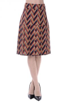Silk and Wool Plisse Skirt