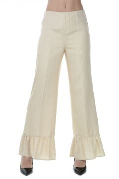 Silk Pants with Frill