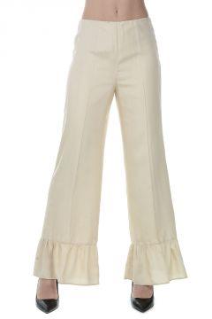 Pantaloni con Frill in Seta