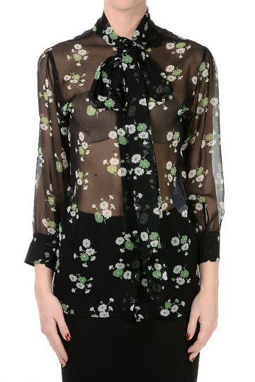 Floral Printed Silk Blouse