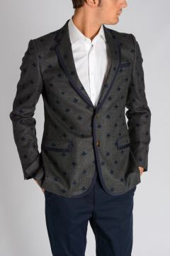 Wool Blazer with Bees