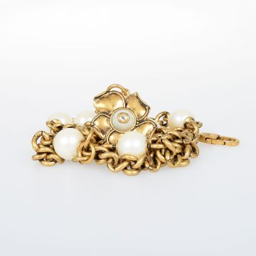 Brass Belt with Floral Charm 15 mm
