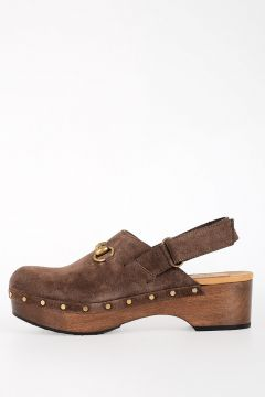 Suede Leather Sabot
