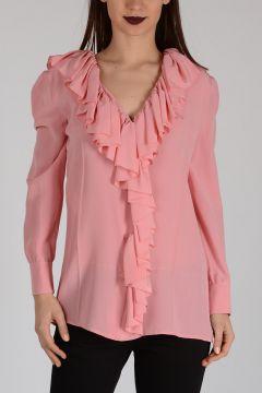 Ruked Silk Shirt