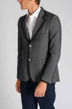 Petterned Wool Blend Blazer