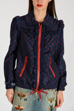 Nylon Jacket with Curling