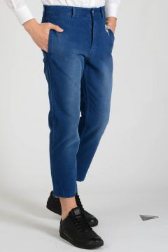 Stretch Cotton Embroidered Pants
