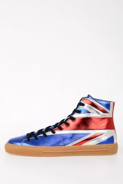 Leather High Sneakers