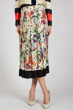 Silk Flowered Skirt