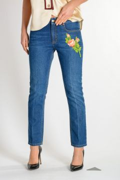 16cm Embroidery Jeans