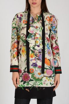 Floral Printed Long Blouse