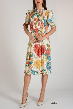 Cotton Flowered Dress