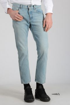 17cm Denim Jeans With Embroidery