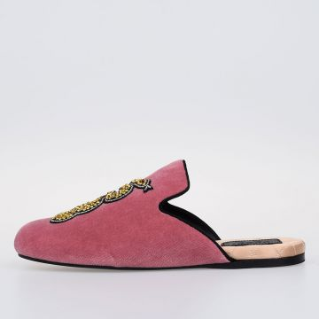 Embroidery Velvet Slipper